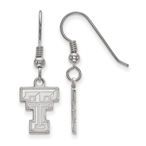 Texas Tech Red Raiders Sterling Silver Small Dangle Earrings