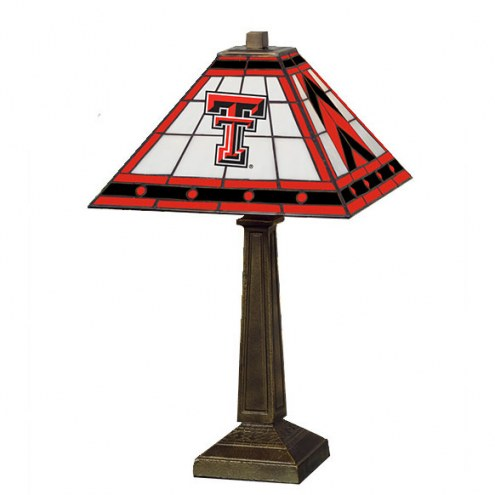 Texas Tech Red Raiders Stained Glass Mission Table Lamp