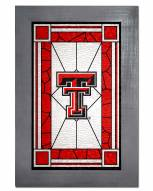 Texas Tech Red Raiders Stained Glass with Frame