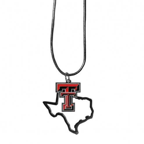 Texas Tech Red Raiders State Charm Necklace