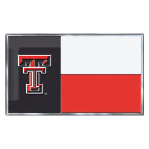 Texas Tech Red Raiders State Flag Car Emblem