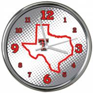 Texas Tech Red Raiders State of Mind Chrome Clock