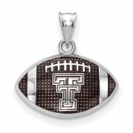 Texas Tech Red Raiders Sterling Silver Enameled Football Pendant