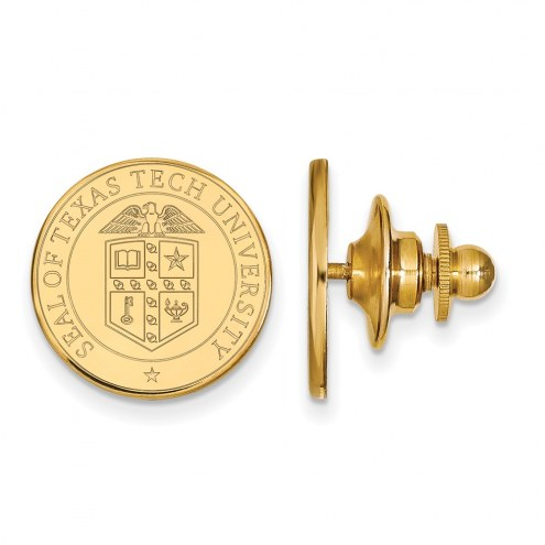 Texas Tech Red Raiders Sterling Silver Gold Plated Crest Lapel Pin