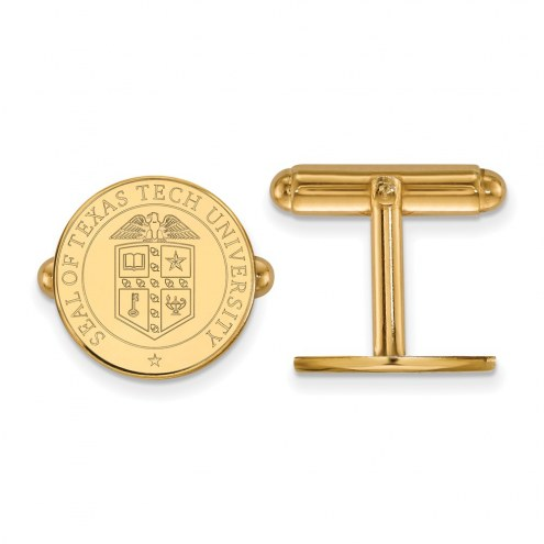 Texas Tech Red Raiders Sterling Silver Gold Plated Cuff Links