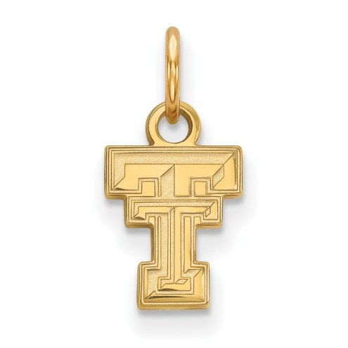 Texas Tech Red Raiders Sterling Silver Gold Plated Extra Small Pendant