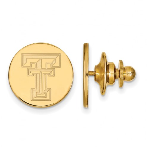 Texas Tech Red Raiders Sterling Silver Gold Plated Lapel Pin