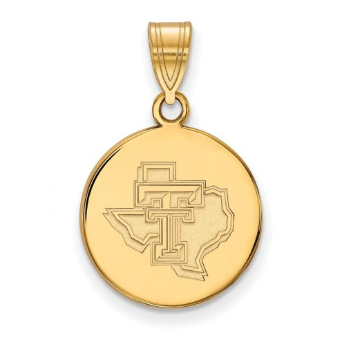Texas Tech Red Raiders Sterling Silver Gold Plated Medium Pendant