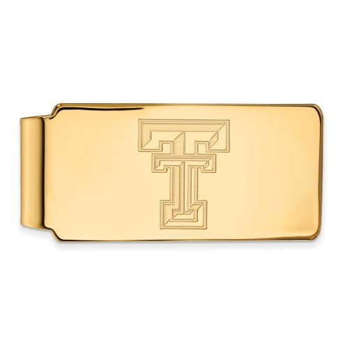Texas Tech Red Raiders Sterling Silver Gold Plated Money Clip