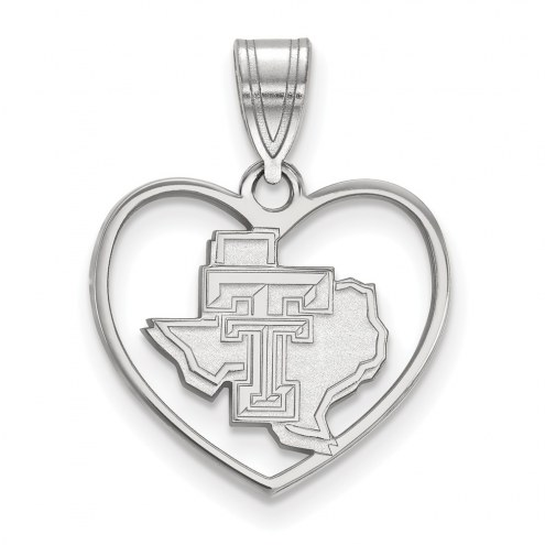 Texas Tech Red Raiders Sterling Silver Heart Pendant