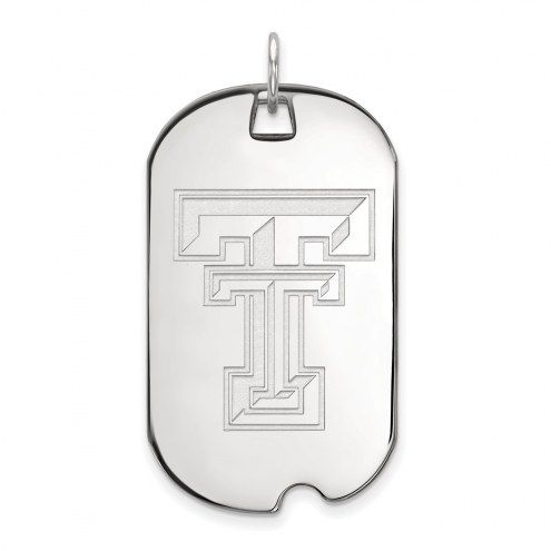 Texas Tech Red Raiders Sterling Silver Large Dog Tag