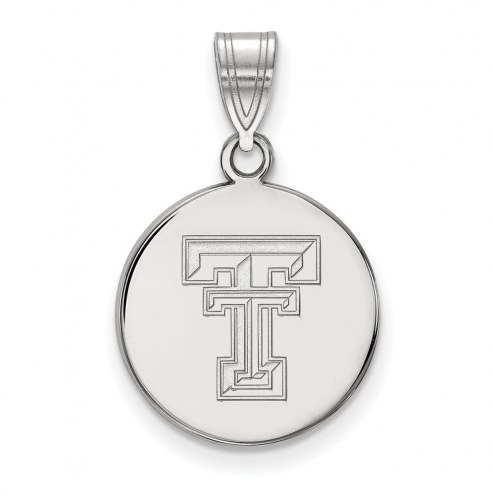 Texas Tech Red Raiders Sterling Silver Medium Disc Pendant