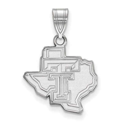 Texas Tech Red Raiders Sterling Silver Medium Pendant