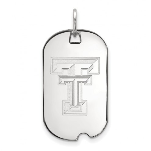 Texas Tech Red Raiders Sterling Silver Small Dog Tag