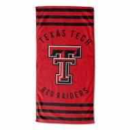 Texas Tech Red Raiders Stripes Beach Towel