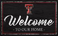Texas Tech Red Raiders Team Color Welcome Sign