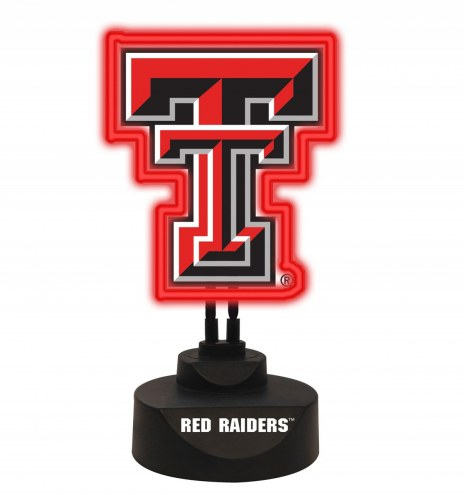 Texas Tech Red Raiders Team Logo Neon Light