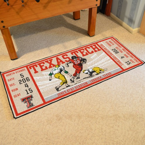 Texas Tech Red Raiders Ticket Runner Rug