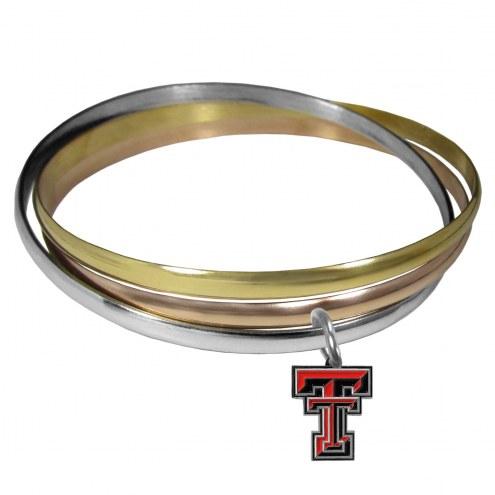 Texas Tech Red Raiders Tri-color Bangle Bracelet