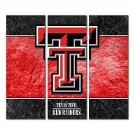 Texas Tech Red Raiders Triptych Double Border Canvas Wall Art