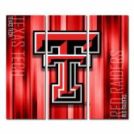 Texas Tech Red Raiders Triptych Rush Canvas Wall Art