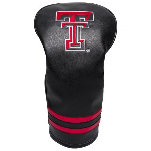 Texas Tech Red Raiders Vintage Golf Driver Headcover