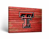 Texas Tech Red Raiders Weathered Canvas Wall Art
