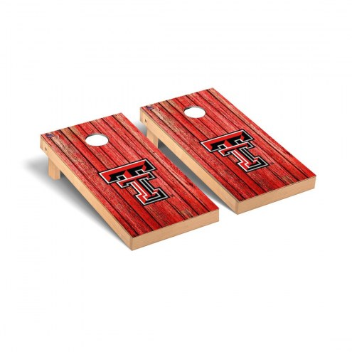 Texas Tech Red Raiders Weathered Cornhole Game Set
