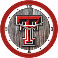 Texas Tech Red Raiders Weathered Wood Wall Clock