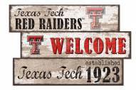 Texas Tech Red Raiders Welcome 3 Plank Sign