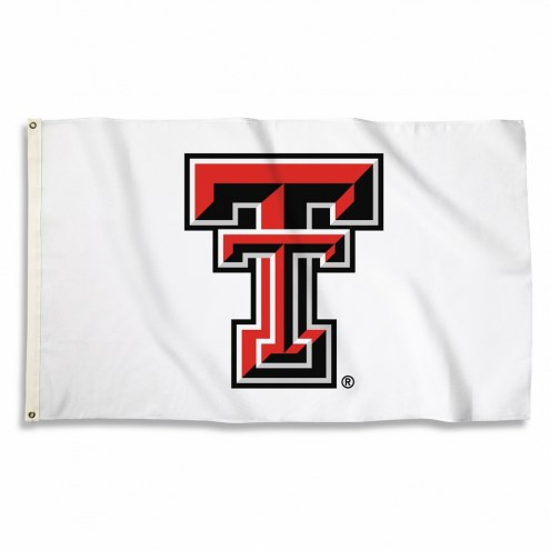 Texas Tech Red Raiders White 3' x 5' Flag