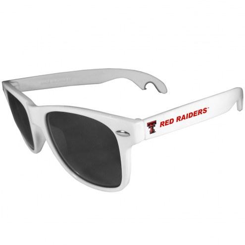 Texas Tech Red Raiders White Beachfarer Bottle Opener Sunglasses