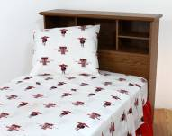 Texas Tech Red Raiders White Bed Sheets