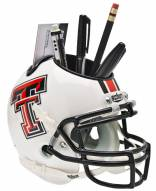 Texas Tech Red Raiders White Schutt Football Helmet Desk Caddy