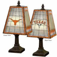 Texas Longhorns NCAA Hand-Painted Art Glass Table Lamp