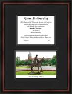 Texas Tech University Diplomate Framed Lithograph with Diploma Opening