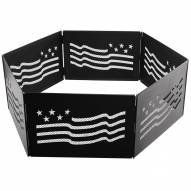 The Zion Stars & Stripes Portable Folding Fire Ring