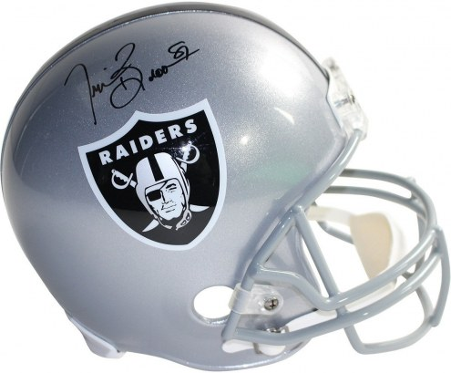 Tim Brown Signed Oakland Raiders Full Size Replica Helmet