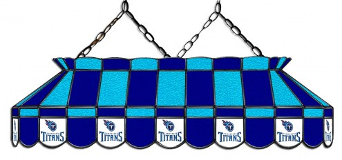 """Tennessee Titans NFL Team 40"""" Rectangular Stained Glass Shade"""