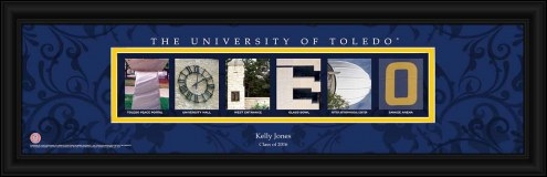 Toledo Rockets Personalized Campus Letter Art