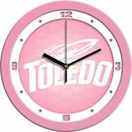 Toledo Rockets Pink Wall Clock