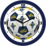 Toledo Rockets Soccer Wall Clock
