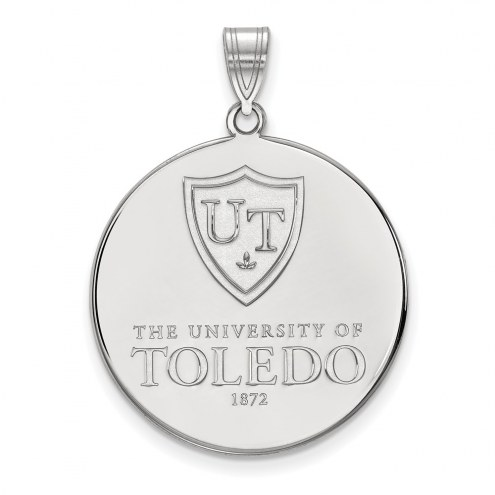 Toledo Rockets Sterling Silver Extra Large Disc Pendant