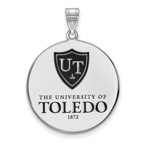 Toledo Rockets Sterling Silver Extra Large Enameled Disc Pendant