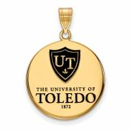 Toledo Rockets Sterling Silver Gold Plated Large Pendant