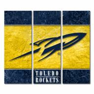 Toledo Rockets Triptych Double Border Canvas Wall Art