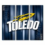 Toledo Rockets Triptych Rush Canvas Wall Art