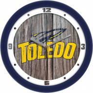 Toledo Rockets Weathered Wood Wall Clock