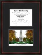 University of Toledo Diplomate Framed Lithograph with Diploma Opening
