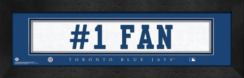 "Toronto Blue Jays ""#1 Fan"" Stitched Jersey Framed Print"